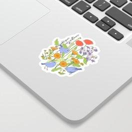 Birds and Wild Blooms Sticker