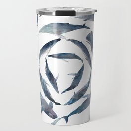 Circular Blue Wales Travel Mug
