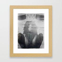 Forced Collab // Feralchild // SAMO (II) Framed Art Print