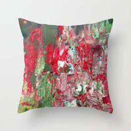Color Commentary #17: Red & Green [Lena Levin, In Studio With Masters] Throw Pillow