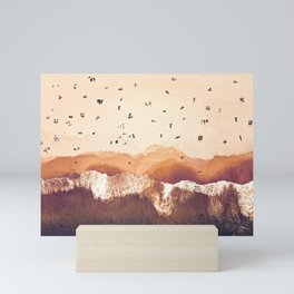 Terracotta Beach Mini Art Print