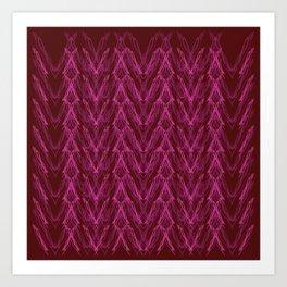 Luxury mandalas red on choco Art Print