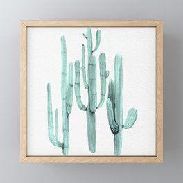 Cactus Trio Turquoise by Nature Magick Framed Mini Art Print