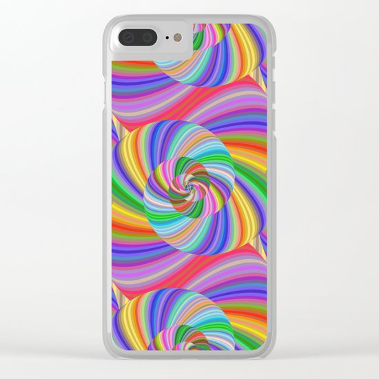 Color spiral pattern Clear iPhone Case