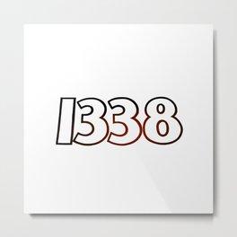 1338 white Metal Print