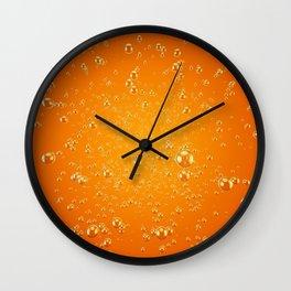 Orange Soda Wall Clock