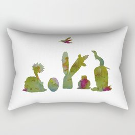 Cacti and ferret art Rectangular Pillow