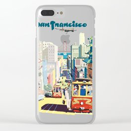 Sanfrancisco vintage mode Clear iPhone Case