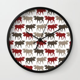 Moose Promenade Wall Clock