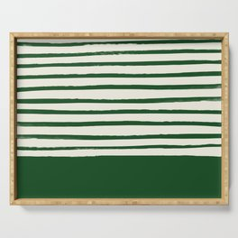 Holiday x Green Stripes Serving Tray