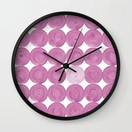 Pinker dot dot, dot pink Wall Clock