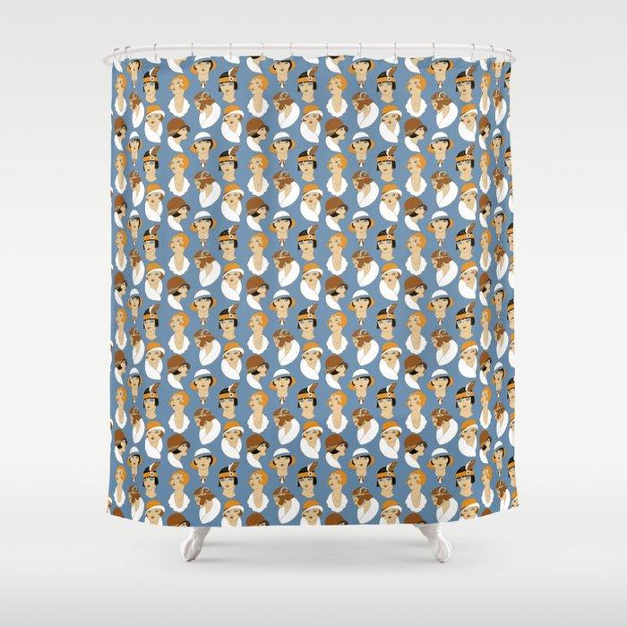 retro fashion Shower Curtain