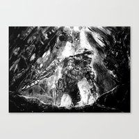 master chief Canvas Prints featuring Master Chief by Tufty Cookie