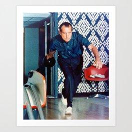 Richard Nixon Bowling Art Print