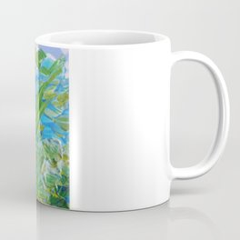 LAKE LOVE - Beautiful Relaxing Turquoise Blue Green Seaweed Chic Decor Gift for Him Acrylic Painting Coffee Mug