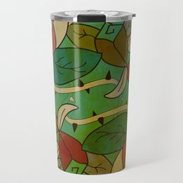 Floral, blood and thorn pattern Travel Mug