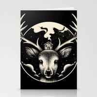 Stationery Cards featuring Deer Home by Enkel Dika