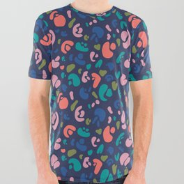 Abstract Animal All Over Graphic Tee