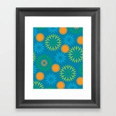 Spikey Flower Calm Framed Art Print