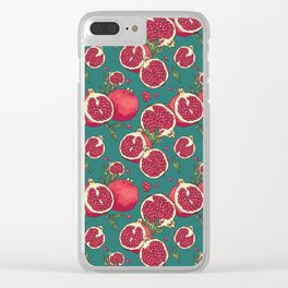 Juicy pomegranates Clear iPhone Case