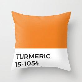 Turmeric Pantone Chip • Spice •Orange •Food Art • Design • Graphics • Minimalism • Classic Print Throw Pillow