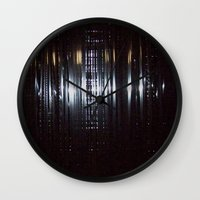 tape Wall Clocks featuring Tape by Brandon Lynch