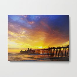 Golden Solace Metal Print