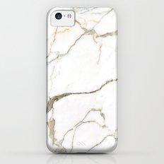 White Marble Slim Case iPhone 5c