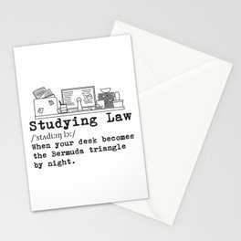 Studying Law Messy Desk Gift Stationery Cards