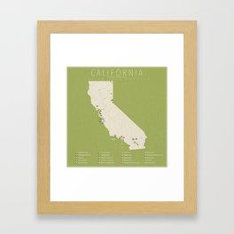 California Golf Courses Framed Art Print