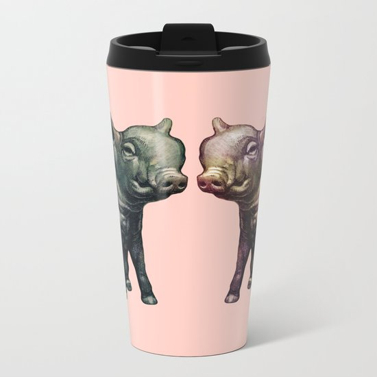 true love (pig love) Metal Travel Mug