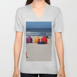 Colors on a beach Unisex V-Neck