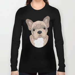 Beige Frenchie Puppy 001 Long Sleeve T-shirt