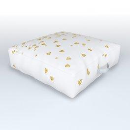 Falling hearts gold glitter confetti - Heart Love Valentine Outdoor Floor Cushion