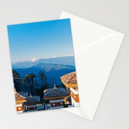 Bhutan: Sunset on Dochula Pass Stationery Cards