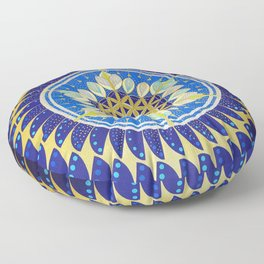 The Seed of Life Floor Pillow