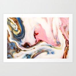 Marbling painting Art Print