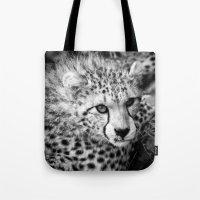 cheetah Tote Bags featuring Cheetah by Mark Nelson