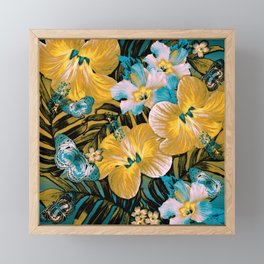Golden Vintage Aloha Framed Mini Art Print