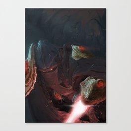 A Close Fight Canvas Print