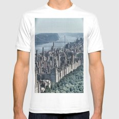 New York State of Mind White Mens Fitted Tee MEDIUM