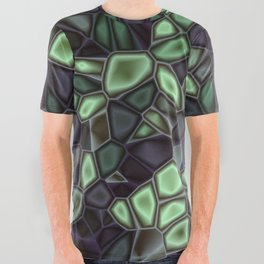 Fractal Gems 04 - Emerald Dreams All Over Graphic Tee