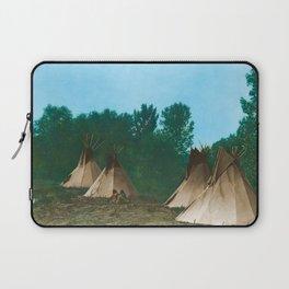 Assiniboine Camp - American Indian Tipis Laptop Sleeve