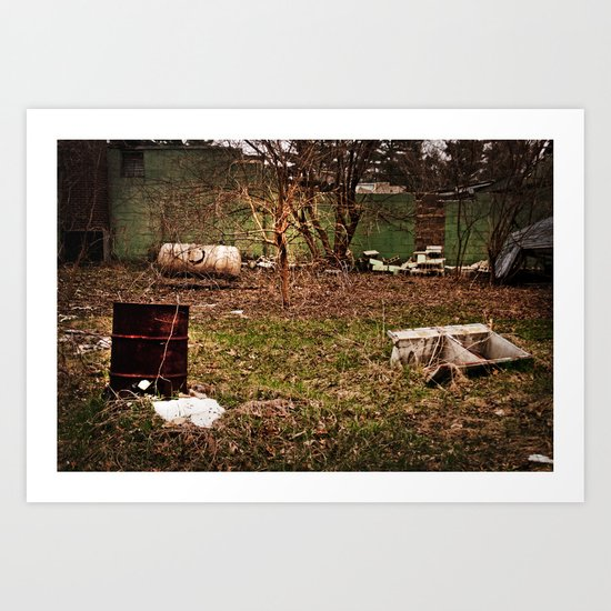 Abandoned Bowling Alley Art Print