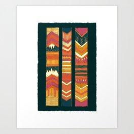 Navii Geometirc Tapestry Chevron  Art Print
