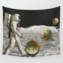 Moon Shot #collage Wall Tapestry