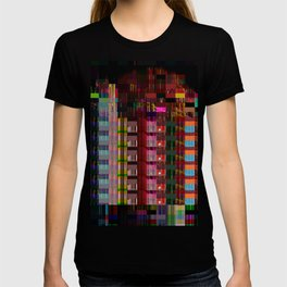 Glitch Abstract Cityscape T-shirt