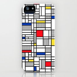 Map Lines Mond iPhone Case