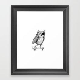 Ride On Owl Framed Art Print