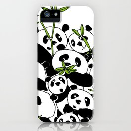 A Pandemonium of Pandas  iPhone Case